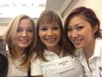 Three of our staff at a conference
